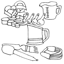 Small Picture coloring pages kitchen tools coloring page kitchen utensils img