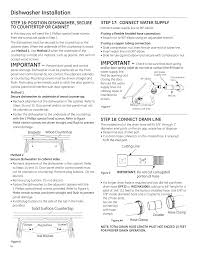 Dishwasher Purchase And Installation Dishwasher Installation Important Step 17 Connect Water Supply