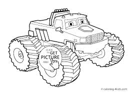 Monster Truck Color Coloring Page Monster Truck Transportation