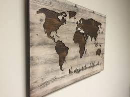 world map wooden plaque set of 3 50 perfect wooden world map wall art ideas