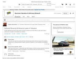 advance lease in valuation linkedln business valuation jobs