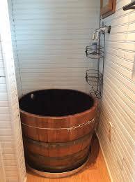 6 wine barrel showertub boulder tiny house front