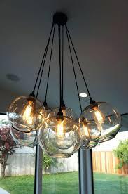 glass globe chandelier sputnik