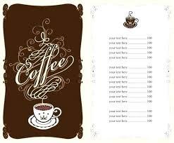 Cafe Menu Template Cafe Menu Template Word Opusv Co