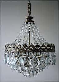 crystal chandelier table lamp antique vintage french basket style brass crystals chandelier lamp s pink crystal