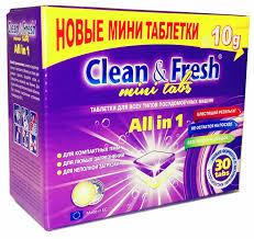 Купить <b>Clean&Fresh Таблетки для ПММ</b> All in 1 mini tabs 30шт по ...
