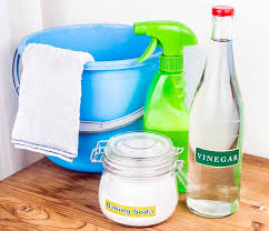 vinegar and baking soda are one of home remes for a slow draining tub