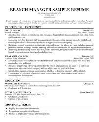 Gallery Of Bank Manager Resume Template Banking Resume Template
