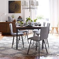 industrial dining table west elm stylish industrial dining room table and chairs