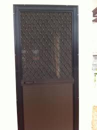 Single Swing Type Screen Door on Alcoframe Profile | Society Glass ...