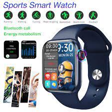 Đồng hồ thông minh Smart Watch HW16 1.72 Inch Bluetooth Call Fitness Band  Smart Watch Waterproof Blood Pressure Heart Rate Fitness Watch Smart Split  Screen Smartwatch For Xiaomi - Đồng hồ thông