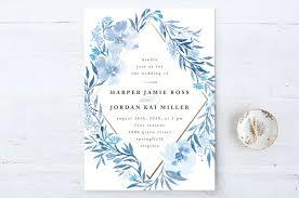 poetic blue wedding invitations by qing ji minted Wedding Invitation Blue And Green \