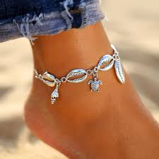 17KM <b>New</b> Silver Color Turtle Shell <b>Anklets For Women</b> Bohemian ...