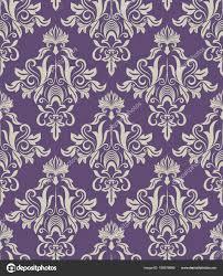 Donker Paars Beige Vintage Behang Patroon Vectorillustratie