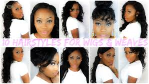 Easy Hairstyles On The Go 10 Easy Hairstyles For Wigs And Weaves Lizzie Loves Youtube