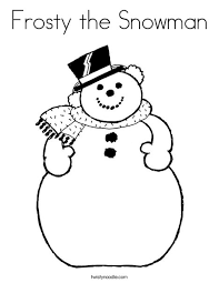 Small Picture Frosty the Snowman Coloring Page Twisty Noodle