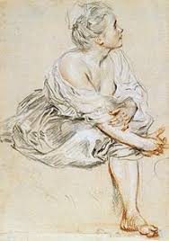rococo and revolution eighteenth century french drawings the  image of seated young w rococo and revolution eighteenth century french
