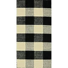 plaid rugs dynamic rugs royal black white wool handmade plaid rug plaid kitchen rugs plaid rugs