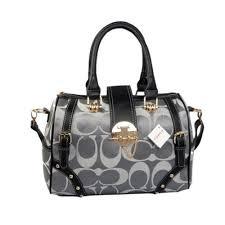 Coach Lock In Monogram Medium Grey Luggage Bags BYY