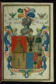 Certification Of Arms And Genealogical Treatise Coat Of Arms Of
