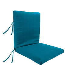 sunbrella classic high back chair cushion with ties 46 x 20 x