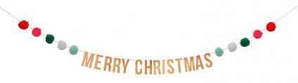 <b>MeriMeri Гирлянда</b> помпоны Счастливого Рождества ...