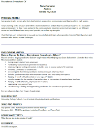Recruitment Cv Cv Example For Recruitment Consultant Lettercv Com