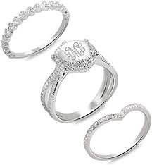 Rings <b>SA SILVERAGE</b> Sterling Silver <b>18k</b> Plated Rings with Cubic ...