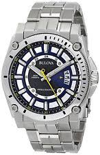 bulova precisionist watches new used vintage bulova men s 96b131 precisionist blue dial stainless steel bracelet watch
