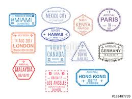 Stamps Template Template Of An Open Passport With Stamps Seals Travel