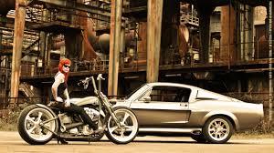 обои рыжая модель мотоцикл средство передвижения татуировка
