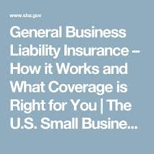 general business liability insurance how it works and what coverage is right for you