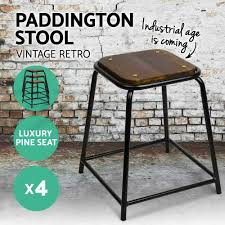 industrial age furniture. 4x Vintage Paddington Bar Stool Retro Mason Industrial Dining Chairs Steel | EBay Age Furniture E