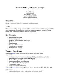 Restaurant Manager Resume Cover Letter Resume For Restaurant Manager Restaurant Manager Resume Will Ease 10