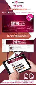 Youtube Template Psd Travel Youtube Channel Banner Psd Template Ltheme