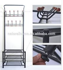 Coat Hanger And Shoe Rack Simple Home Furniture Metal Hat Stands Coat Hanger Stand With Shoe Rack