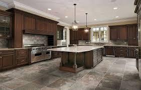 flooring ideas tile kitchen floor ideas with large white granite countertertop kitchen island under two