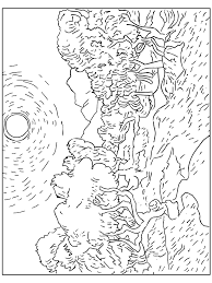 Small Picture Van Gogh Coloring Pages Coloring Pages Pinterest Van gogh