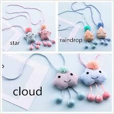 1Pcs Fashion <b>Korean Handmade</b> Cute <b>Star</b> Clouds Tassel Necklace ...
