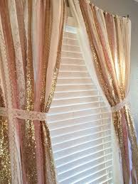 pink gold sparkle sequin garland curtain with by ohmycharley