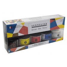 Sennelier Ink Color Chart Sennelier Ink Primary Colours Set 5 X 30ml I Ink I Art Supplies