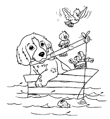 Small Picture Fish Dog Coloring Pages Coloring Coloring Pages