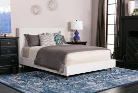 Living Spaces Bedroom Furniture Dean Sand Queen Upholstered Panel Bed Living Spaces
