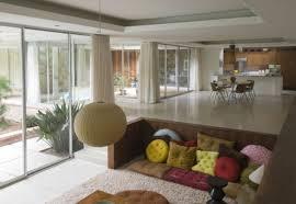 floor seating living room. simple sunken corner living room design with floor seating. designs seating