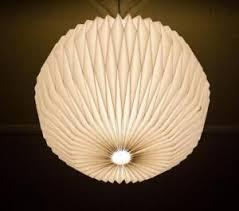 Image is loading Cream-Origami-Round-Ceiling-Pendant-Light-Shade-Paper-