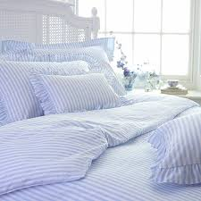blue and white striped sheets.  White Childrenu0027s Blue Candy Stripe Bed LinenCologne U0026 CottonNURSERYBedlinen  Cologne Cotton Bedlinen On And White Striped Sheets Z