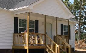 mobile home porch with gable roof