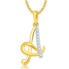 ara letter a gold and rhodium plated cz alphabet pendant