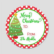 Christmas Tree Labels 20 Personalized Merry Label Tags Christmas Tree Gift Stickers Gt5