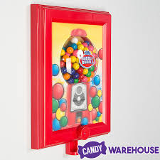 wall mounted gumball dispenser frame with gum